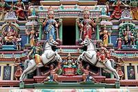 Gopuram of Sri Mariamman Temple, Kuala Lumpur , Malaysia