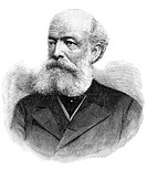 August Kekule 1829_1896, German organic chemist. From 1858 Kekule developed a ´structural theory´ for carbon chemistry, based on its valency bond_form...