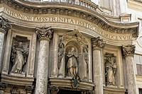 San Carlo alle Quattro Fontane Church, better know as San Carlino, Detail of Facade, Rome, Latium, Italy
