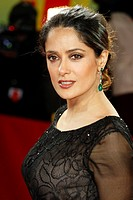 Actress SALMA HAYEK arrives for the screening of the film 'As Luck Would Have It' at the 62nd International Film Festival Berlinale