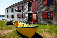 Historic Dory Shop, Museum Complex, Shelburne Waterfront Heritage District, Shelburne, Nova Scotia, Canada