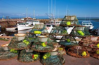 Crab traps, Nine Mile Creek Wharf, Prince Edward Island, Canada