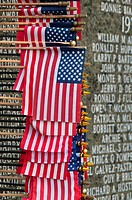 Washington Vietnam Veterans Memorial with American flag, State Capitol Mall, Olympia, Washington