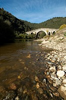 Bridge over Sabor river at Portugal's Tras Os Montes region