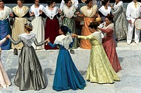 France, Bouches du Rhone 13, Arles, party costume, folk dance