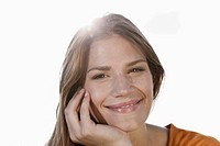 Germany, Cologne, Young woman smiling, portrait (thumbnail)