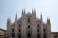 The Cathedral of Milan is in Gothic and neo_Gothic style, for the Gothic west front was begun in 1616 and completed just 200 years later. From 1900 so...