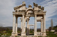 The Tetrapylon, built in the reign of Hadrian 117_138 AD, was a monumental gateway which greeted pilgrims when they approached the Temple of Aphrodite...