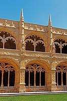 Cloister of the Mosteiro dos Jeronimos, Belem, Lisbon, Portugal, Europe