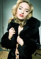Glamourous blonde women