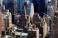 Building tops in Midtown Manhattan  New York City  USA