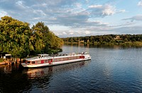 Havel, Bellevue Passenger Boat at Babelsberg Castle, Babelsberger Park, Potsdam, Land Brandenburg, Germany