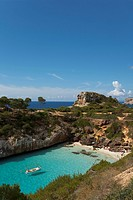 Calo d es Moro, nearby Cala S Amonia, near Santanyi, Mallorca, Balearic Islands, Spain, Europe