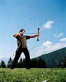 Archer, Vigilius Mountain Resort, Vigiljoch, Lana, Trentino_Alto Adige/Suedtirol, Italy