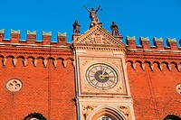 The clock of the city hall Odense Denmark
