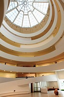 The interior view of Solomon R  Guggenheim Museum in upper town Manhattan  New York City  USA