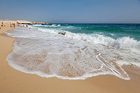 Waves on a beach, Fuerteventura, Canary Islands, Spain, Europe