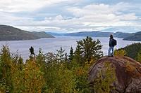 Saguenay Fjord, St. Lawrence Marine Park, Saguenay Lac Saint Jean Region, Quebec, Canada