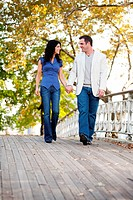 Couple Walk Bridge