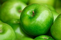 Green delicious apples