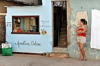 Agricultura Urbana, urban agriculture, small fruit and vegetable shop, Trinidad, Cuba, Greater Antilles, Caribbean, Central America, America