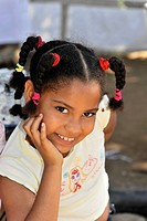 Cuban girl, portrait, Trinidad, Cuba, Greater Antilles, Caribbean, Central America, America