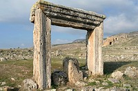 Rest of ruins in Pamukale hierapolis, Turkey
