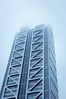 Office building Heron Tower in the City of London on a cold winter morning
