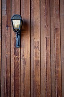 Wood siding with a lamp/light