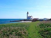 France, Brittany, Fouesnant, ile aux moutons, lighthouse