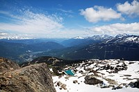 View from the top of Whistler Mountain, Whistler, British Columbia, Canada, North America