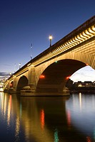 London Bridge in the late evening, Havasu, Arizona, United States of America, North America