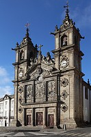 The 17th century Igreja de Santa Cruz Holy Cross Church, Braga, Minho, Portugal, Europe