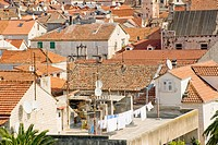 Roof of Trogir sity in Croatia