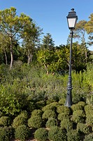 STREET LANTERN IN MEDITERRANEAN GARDEN