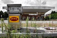 Abandoned gas station in Italy