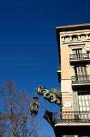 Casa Bruno Cuadros on La Rambla, Barcelona, Catalonia, Spain, Europe
