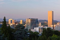 Sunset Over The City, Portland Oregon United States Of America