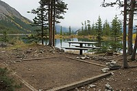 campsite at the point campground, alberta canada