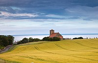 A Building And Farmland, St. Abb´s Head Scottish Borders Scotland