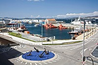 a harbor and commercial dock, vigo, spain