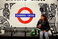United Kingdom, London, Charing Cross underground station, 16 year oldgirl