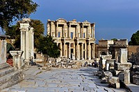 Turkey, Aegean Region, Ephesus ancient city, Celsus Celsius Library