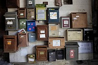France, Bouches du Rhone, Marseille, mailboxes