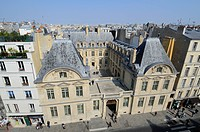 France, Paris, the mansion of Sully buit during the XVIIth century in the Marais district