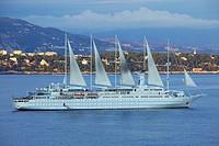 Principality of Monaco, Monaco, Club Med cruise ship to the bottom Cape Martin