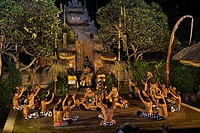 Indonesia, Bali Island, Batubulan village, Kecak dance with Sahadewa company