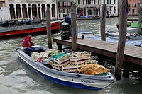 Italy, Venetia, Venice, listed as World Heritage by UNESCO, San Polo district, Mercati di Rialto Rialto market