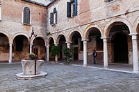 Italy, Venetia, Venice, listed as World Heritage by UNESCO, Castello district, cloister, Campo San Pietro di Castello