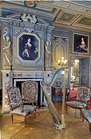 France, Loir et Cher, Loire Castles, Chateau de Cheverny, the grand salon